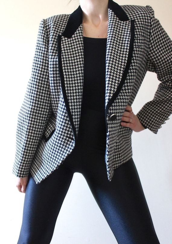 Small Medium Tailored Businesswoman Jacket Dark Gray Suit Jacket Pure Wool Grey Striped Blazer High Quality Fitted Formal Jacket