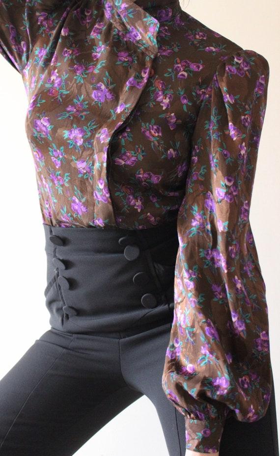 RARE Silk Oscar De La Renta Blouse | Pure Silk Lon