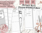 Printable 'Skinny Mini' Budget Tracker for Happy Planner - Print Double Sided - Perfectly Sized and PDF Printer Ready for your Planner!