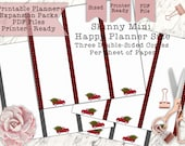 Printable Skinny Mini Farm Truck Christmas Half Sheets for Mini Happy Planner - Print Double-Sided - PDF Printer Ready for your Planner!