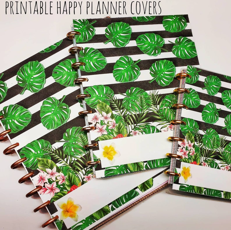 Tropical Happy and other Planner Cover Set  Big Classic image 0
