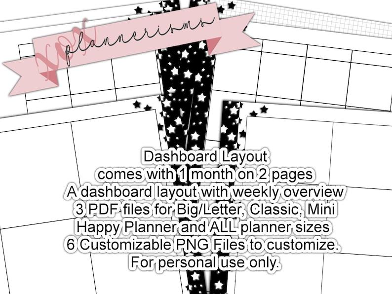 Star Printable Dashboard Planner Template  Custom Blank image 0