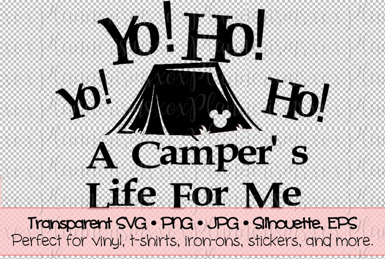 Campers Life Tent Camper Decal File For Vinyl  Sticker  Iron image 0