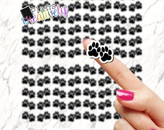 Printable Dog Print Planner Stickers - Dog Print or Puppy Print printable stickers for any type planners. Cricut printable stickers