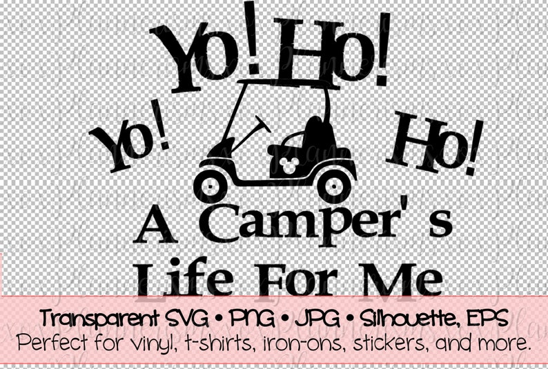 Campers Life Golf Cart Camper Decal File For Vinyl  Sticker  image 0
