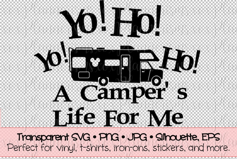 Campers Life RV Camper Decal File For Vinyl  Sticker  Iron image 0