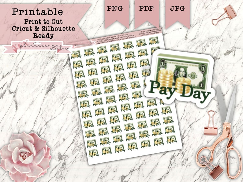 77 Pay Day Planner Stickers  Pay Day Reminders  Sticker for image 0