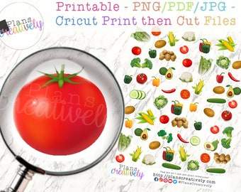 Printable Garden Stickers - Vegetable Garden Stickers for your planner, garden planning, fitness planners, decorating and more!