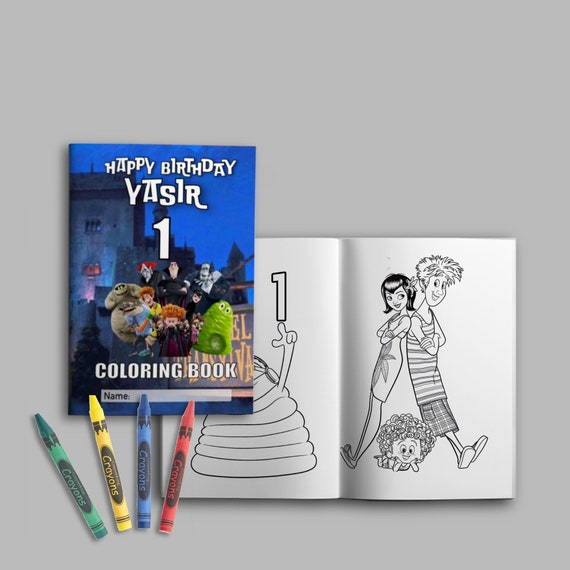 Custom Coloring Book Party Favor Etsy