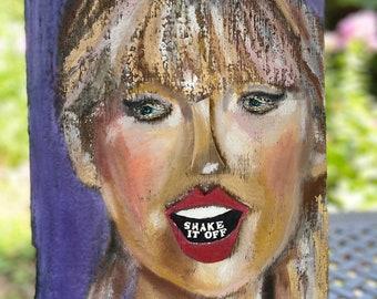 Taylor Swift Art Oil Stick on Barnwood