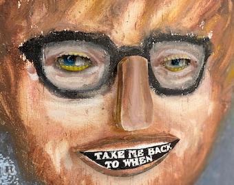 Ed Sheeran Art 3D portrait