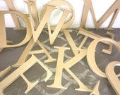 8 inch MDF Unfinished Wood Letters, 3 4 inch thick - Paintable, Mod Podge, Birthday, Wedding, Home decor, Props, Photography