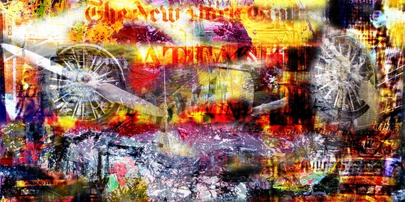 New York 2011 Limited Edition 1-100 abstract painting dramfoliist Contemporary Art