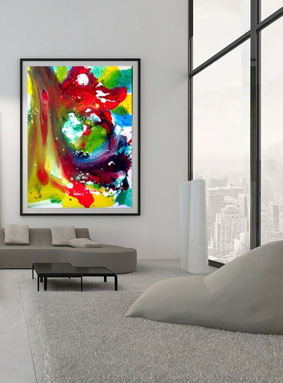 Abstract art of acrylic painting comp. M5 Contemporary Art Limited Edition 1-100