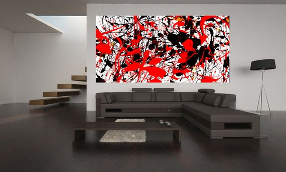 Abstract composition P5 Limited Edition 1-100 acrylic painting Contemporary Art
