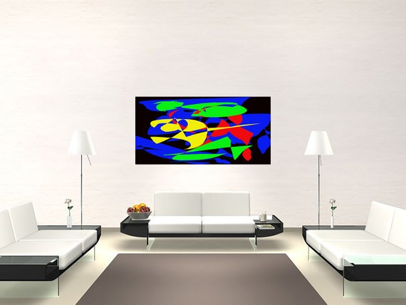 Abstract composition K09 Limited Edition 1-100 Modern Art of acrylic painting Contemporary Art