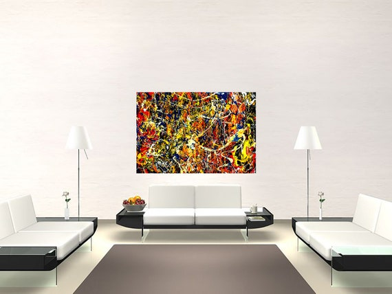 Composition P12 abstract, large-scale art of acrylic painting Limited edition 1-100