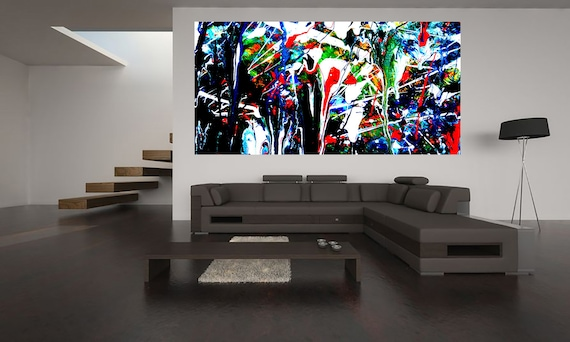 Abstract composition P2 Limited Edition 1-100 acrylic painting Contemporary Art