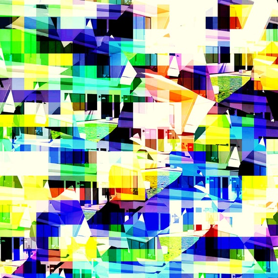 Abstract cityscape Limited Edition 1-100 pcs. Art of acrylic painting Contemporary Art
