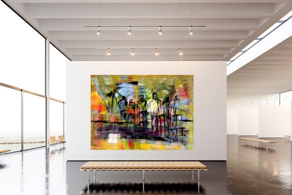 Theatre rehearsal abstract art of acrylic painting Limited edition 1-100