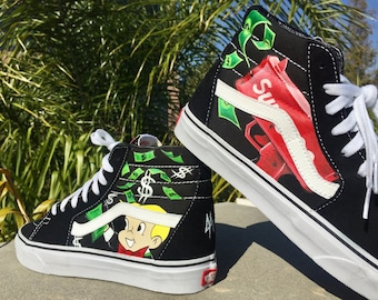 bc9c058b80a Custom Richie Rich x Supreme Vans