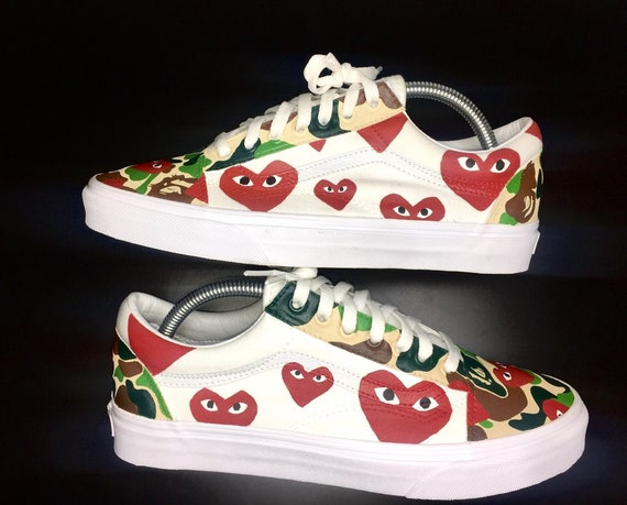 e767347e5e2 Custom Bape x CDG Vans Old Skool