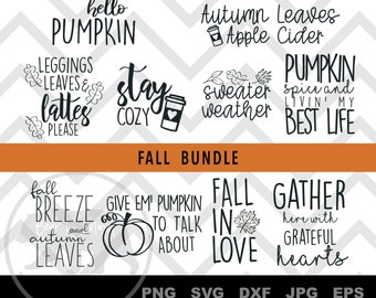 Fall Themed Svg Etsy