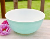 Vintage Blue Pyrex Bowl 403 2 1 2 quart Medium Blue Pyrex Retro Kitchen Turquoise Pyrex Aqua 1950s