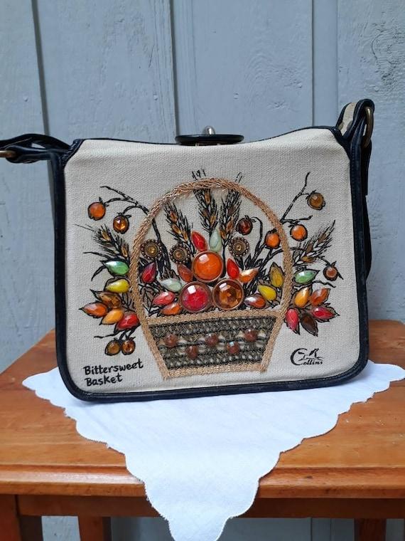 Enid Collins Vintage Bittersweet Basket Handbag