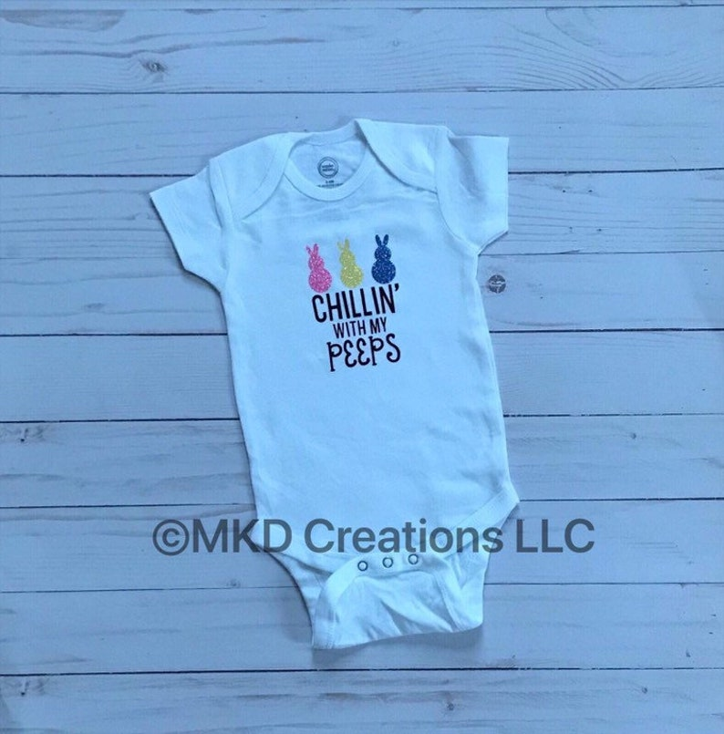 Baby Boy Clothes Bedtime Wear baby shower gift Chillin/' with my peeps short sleeve bodysuit Baby Girl Clothes