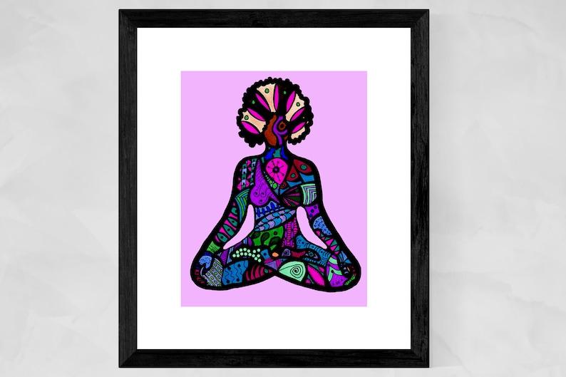 African American Art Prints Yoga Art Prints Black Yogi Yoga image 0