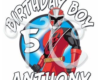 9d0aee50 Power Rangers Ninja Steel Custom Birthday Shirt, Power Rangers, Custom shirt,  Adult custom shirt,family birthday shirt, Dino Charge, Samurai