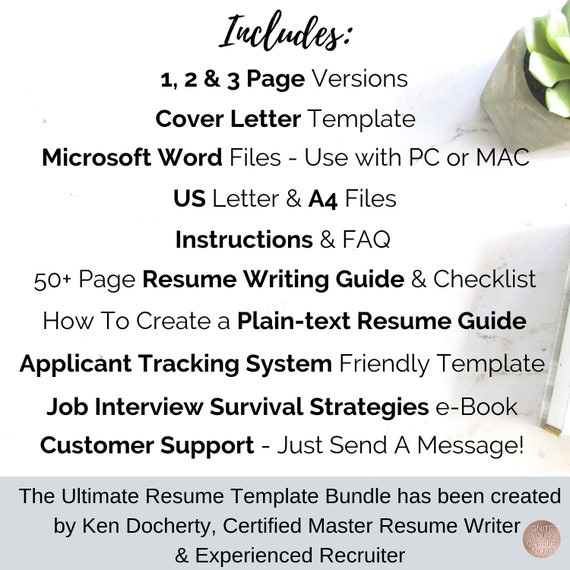 Creative Resume Template, CV Template, Modern Resume Template, Marketing  Resume, Public Relations Resume, Resume and Cover Letter Template