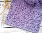 Lightweight Lace Silk Knit Scarf - Lilac Wool Knit Shawl - Fancy Women 39 s Scarf - Spring Bridal Shawl - Winter Knit Wrap - Warm Soft Scarf