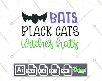 Cats /& Wiches Hats Bats Stitchworks