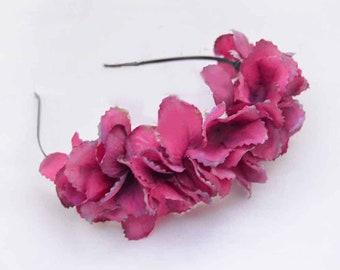 Tocado flores hortensia b95c9595d1e