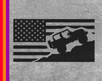 American Flag SVG File For TJ, Cut File For Cricut And Silhouette, Flag Vector Image, American Flag Stencil, SVG For Wranglers, Accessories