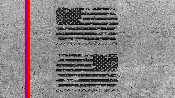 Distressed American Flag Svg File Wrangler Cut File For Etsy