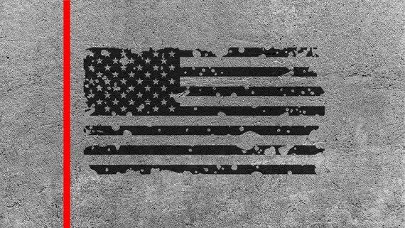 Distressed American Flag Svg File Cut File For Cricut And Etsy