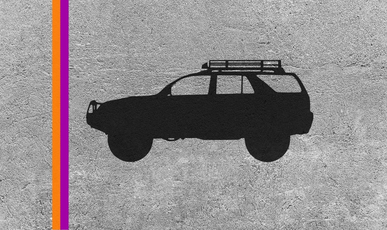 Mountain SVG File For Toyota 4Runner Accessories For Toyota 3rd Gen Vector Images Cut File For Cricut And Silhouette Digital Download