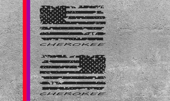Distressed American Flag Svg File Cherokee Cut File For Etsy