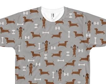 d0f64067586f Wiener Dog Dachshund Working Out - Men's Tshirt - Weiner Dog