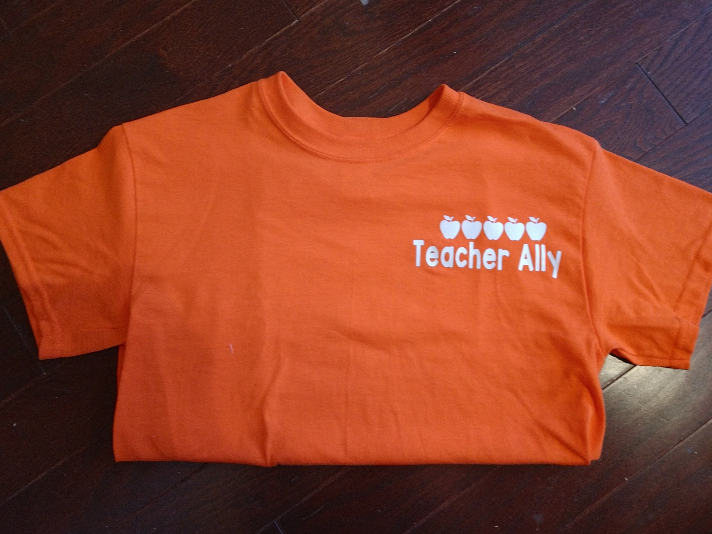 501aea9f VIPKid t-shirt with iron on 5 apples and teacher name. Free   Etsy