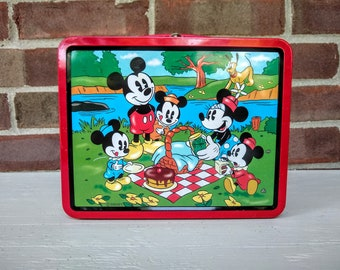 33986ba73f Vintage Mickey Mouse Lunch Box, Disney Lunchbox, 1997 Series #2,  Collectible.
