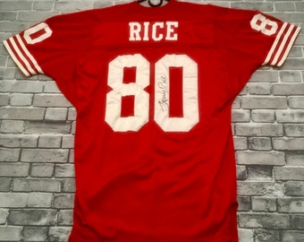 9ba710e3372 Authentic Vintage One-of-kind Jerry Rice Autographed Jersey