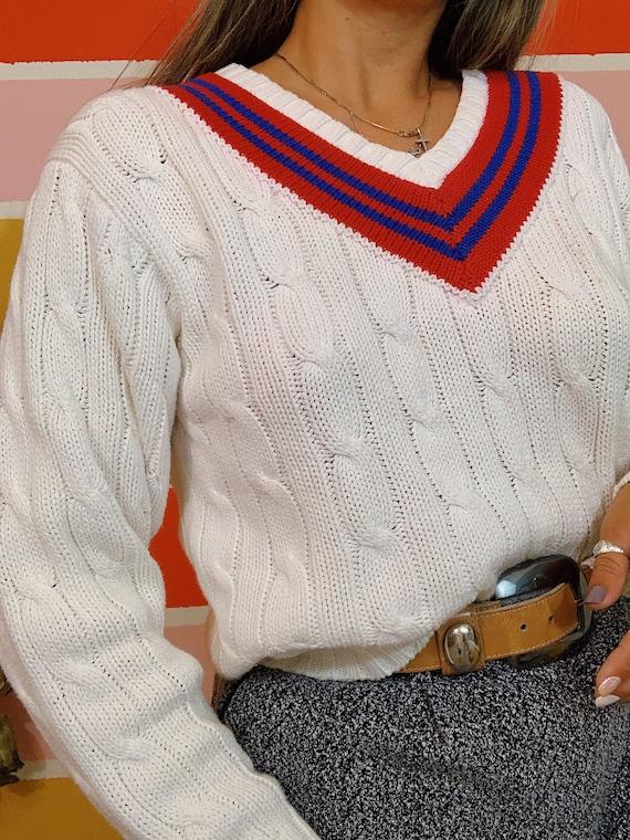 Vintage 80s Polo Ralph Lauren Thick Cableknit Pre… - image 2
