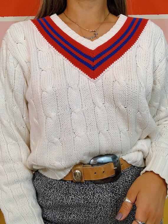 Vintage 80s Polo Ralph Lauren Thick Cableknit Pre… - image 7