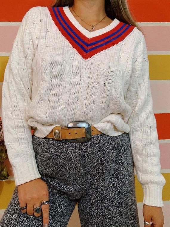 Vintage 80s Polo Ralph Lauren Thick Cableknit Pre… - image 5