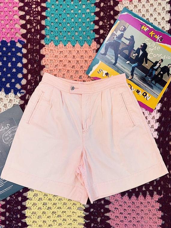 Vintage 80s LIZSPORT Pretty in Pink Hi-Rise Daisy