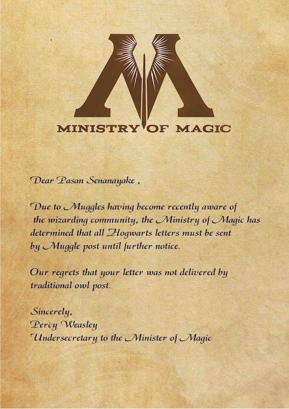 Personalized Hogwarts Letter Etsy